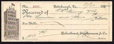 Cheque - US - Arbuthnot, Stephenson & Co, Pittsburch, Pa - No:- 2591