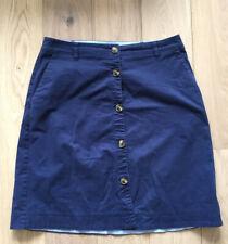 Lands End Navy Button Through Skirt Size 14