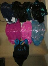 Lot of 7 Gymnastics Leotards Size Small Great Value