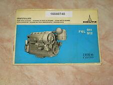 Ersatzteilliste Deutz Motoren F6L911 & F6L912 * Catalog de pièces de rechange *