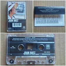 JOAN BAEZ The Best Of CASSETTE TAPE A&M Records Pop Ballad Country 1977