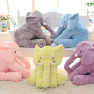 40cm/60cm Height Large Plush Elephant Doll Toy Kids Sleeping Back Cushion Cute S