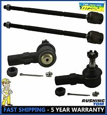 Ford Escort Mercury Tracer 4 Pc Kit Front Inner & Outer Tie Rod End Left & Right