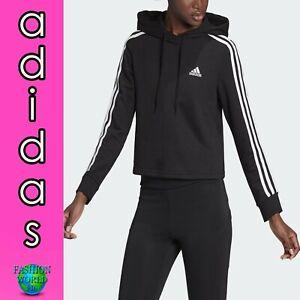 adidas Women's Size Medium Essentials 3-Stripes Cropped Hoodie GM5582