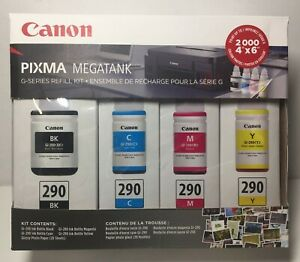 OEM Canon GI-290 CMYK Pixma MegaTank InkJet Toner Accessory Kit 4 Color New