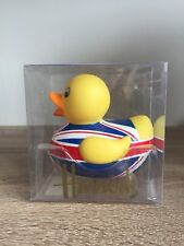 BNIB Harrods Union Jack Rubber Duck Seal not broken