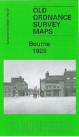OLD ORDNANCE SURVEY MAP BOURNE 1929 WEST STREET ABBEY ROAD EASTGATE THE AUSTERBY