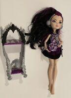 Ever After High Getting Fairest Raven Queen Doll Headphones Dress EAH EUC