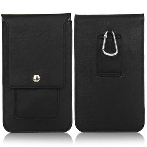 """Mini Wallet Climbing Flip PU Leather Card Case For All Mobile Phone 6.3"""" Pockets"""