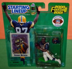 2000 ext ISAAC BRUCE St Saint Louis Rams NM- *FREE s/h* Starting Lineup