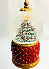 Christmas Tree Light Up & Snow Floats Musical Water Globe-Plays Joy To The World