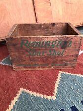 Vintage Remington Arms Shur Shot RARE 16 Gauge Ammo Box Wood Ammunition Crate