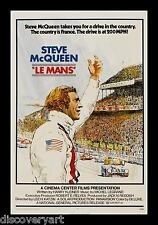Steve McQueen Le Mans 1971 Film Canvas Wall Art Movie Poster Print Car Racing