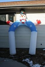 Hard to Find Snowman Sidewalk Front Door Arch Archway Inflatable Airblown