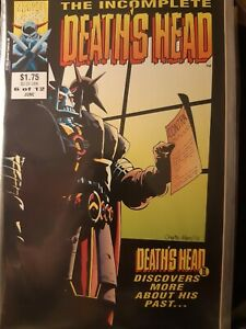 The Incomplete Death's Head #6 of 12 Rare Jun 1992 Marvel Uk with Death's Head 2