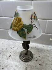 1999 Glynda Turley Tea Candle & Lamp Shade, Hand Painted No Longer Made, Retired