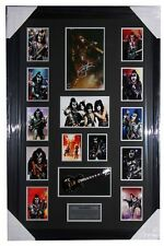 "Gene Simmons ""KISS"" Signed Photo with Replica Mini Guitar"