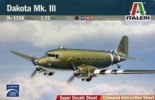 Italeri 1:72 Douglas DC-3 Dakota, C-47. Nr. 1338. New & Sealed.