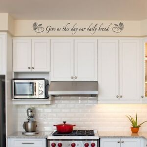 Give Us This Day our Daily Bread Bible Scripture Vinyl Wall Decal Kitchen Decor