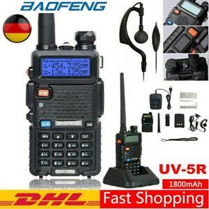 BaoFeng UV-5R Dual Band 128CH V/UHF Walkie Talkie FM Radio Hand Funkgeräte