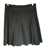 Cue grey/black pinstripe Pleated Office Work skirt size 10 Made In Australia