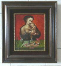 Jean Relst, 30 x 25 cm, Moeder en kind '84, Olie op paneel