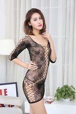Fishnet Babydoll mini Dress Set Sexy Lingerie Underwear