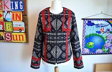 Monsoon black & white embroidered blazer jacket ~ UK 16 ~ NEW