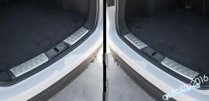 Accessories For Jaguar F-Pace 2017- 2020 Rear Trunk Bumper Sill Plate Cover Trim