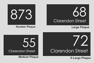 Custom Address Plaque Personalised House Number & Address Sign Gloss Black