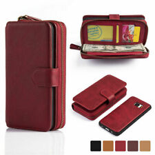 For Samsung Galaxy S7 Edge  Leather  Case Cover  Pouch  Zipper Flip Card Wallet
