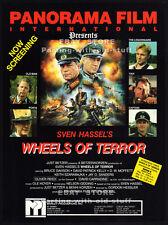 WHEELS OF TERROR__Orig. 1987 Cannes Trade AD promo__GORDON HESSLER__OLIVER REED