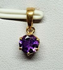 100% Genuine 10ct Yellow Gold Michael Hill Amethyst Solitaire Pendant - gorgeous