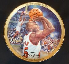 "Michael Jordan Upper Deck Bradford Exchange 8"" Plate - ""The Comeback""  1995"