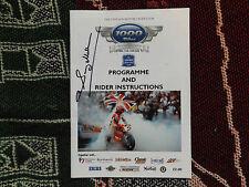 2009 Mallory Park programa-Festival de 1000 bicicletas firmada por Sammy Miller