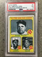 1973 Topps All Time Home Run Leaders Ruth/Aaron/Mays #1 PSA 5 EX