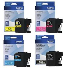 New Genuine Brother LC103XL 4PK Ink Cartridges MFC-J245 MFC-J4610DW