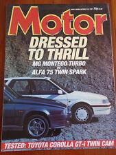 Motor 10/10/87 Toyota Corolla Gt-i Twin Cam, MG Montego Turbo vs Alfa 75