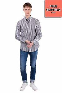 PIERRE CARDIN EVOLUTION Shirt Size 37 / 14 1/2 / S Striped Button Down Collar