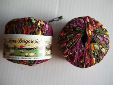 Lane Borgosesia Murano ladder/trellis yarn, multi tones  (60 yds each)