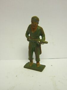 Vintage Barclay Manoil Cast Iron Toy Pirate w/ Sword