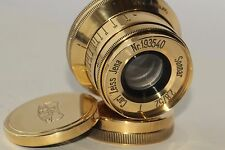 Carl Zeiss Jena Sonnar Gold  2.8/ 52mm Lens M39 Leica