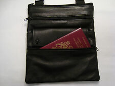Ladies Soft Sheep Skin Leather Cross Body Bag Black