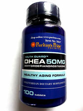 DHEA Dehydroepiandrosterone 50MG Youth Guard 100 Vegetarian Pills Tablets