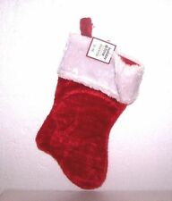 """NEW CHRISTMAS RED STOCKING 14"""" PLUSH FUR CUFF BLANK HANGING HOLIDAY"""
