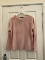 Marks and spencer Dusted Pink  Wool Blend Jumper Size Medium 12/14 BNWT
