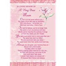 Xpress Mum Grave Card -Bereavement/ Memoriam/ Memory/ Memorial/ Birthday/ Chris