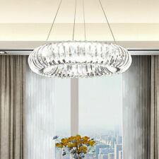 LED Circle ring Crystal Ceiling Lamp Restaurant Chandelier lobby Pendant Light