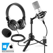 More details for usb studio microphone for pc mac recording with stand, headphones cm300s vh120