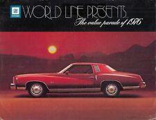 General Motors 1976 Export Markets Brochure Chevrolet Pontiac Oldsmobile Buick